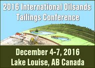 2016 International Oil Sands Tailings Conference